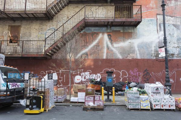 Ludlow Street between Hester and Canal streets, one block east of Orchard Street galleries;