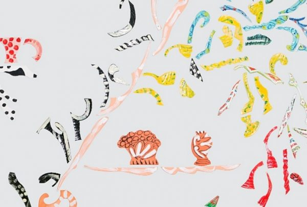 Betty Woodman, Wallpaper #9, 2015 (detail, online review Theatre of the Domestic, ICA London 2016