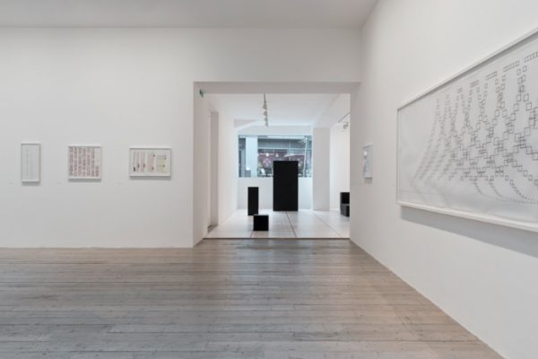 Channa Horwitz, installation view Raven Row, 2016, online review