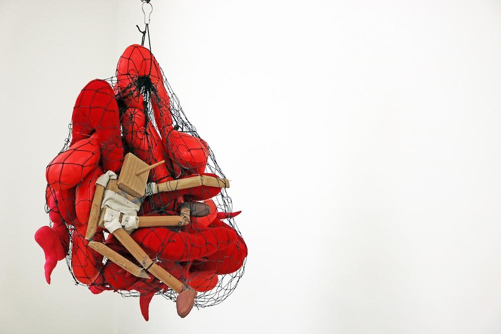 Pinocchio dans ses entrailles, 2008. Image: © Annette Messager Courtesy the artist and Marian Goodman Gallery, New York, Paris & London