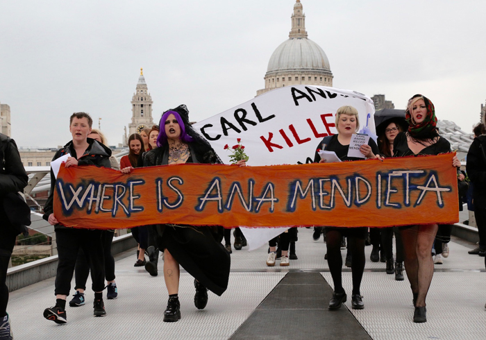 Ana Mendieta Tate Protest 2016, from AR April 2018 Feature Ana Mendieta