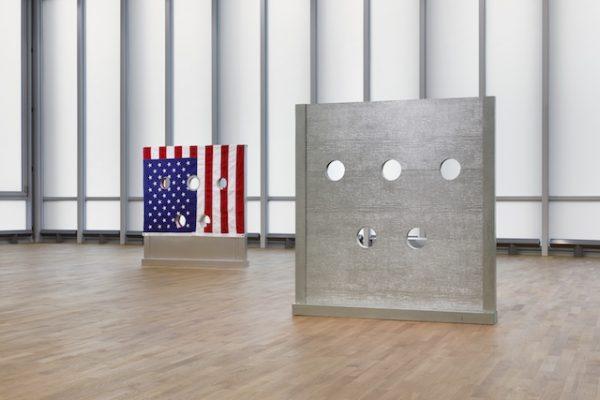 Cady Noland, 2018 (installation view, mmk, Frankfurt). AR Jan_Feb 2019 Feature