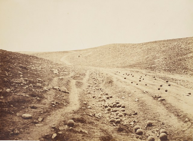 Roger Fenton, Valley of the Shadow of Death, 23 April 1855, 1855. AR April 2019 Feature