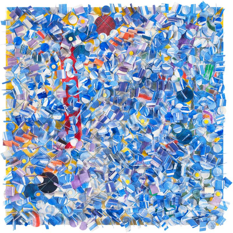 Howardena Pindell, Untitled #59, from 2019 Mayfair Art Weekend Gallery HOP 4