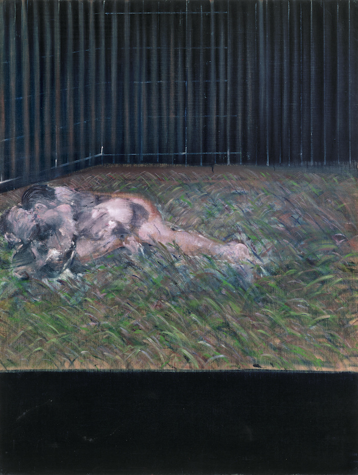 Two Figures in the Grass, 1954 Oil on canvas 152 x 117cm © The Estate of Francis Bacon. All rights reserved, DACS/Artimage 2019. Photo: Prudence Cuming Associates Ltd  Courtesy Gagosian