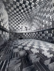 Bell Labs anechoic chamber, from AR September 2019 Sounding off 1
