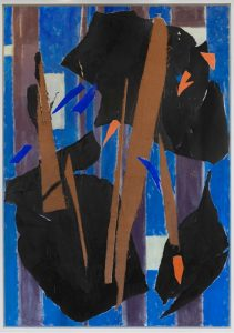 Lee Krasner, Blue Level, 1955. AR October 2019 Review