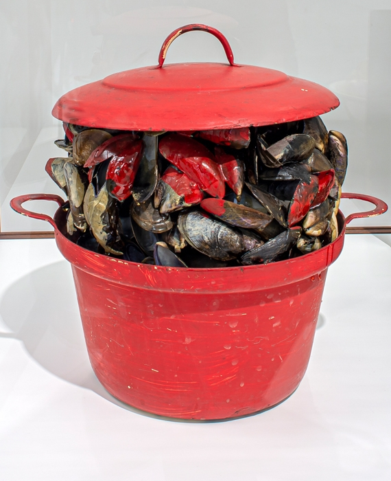 Marcel Broodthaers Red Saucepan with Mussel Shells