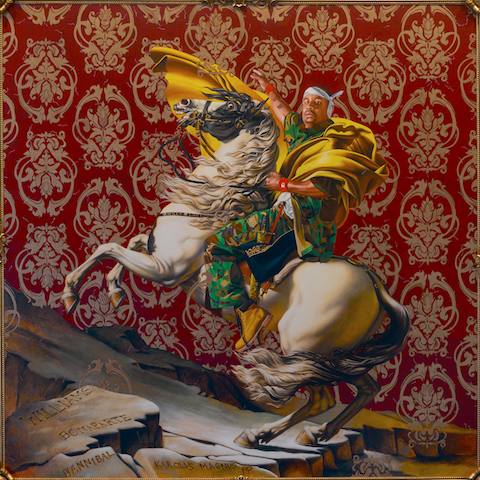 Kehinde Wiley, Napoleon Leading the Army over the Alps, 2005, from AR Previews Jan/Feb 2020