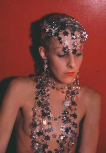 Nan Goldin, Greer modeling jewelry, NYC. For AR January/February 2020 Review