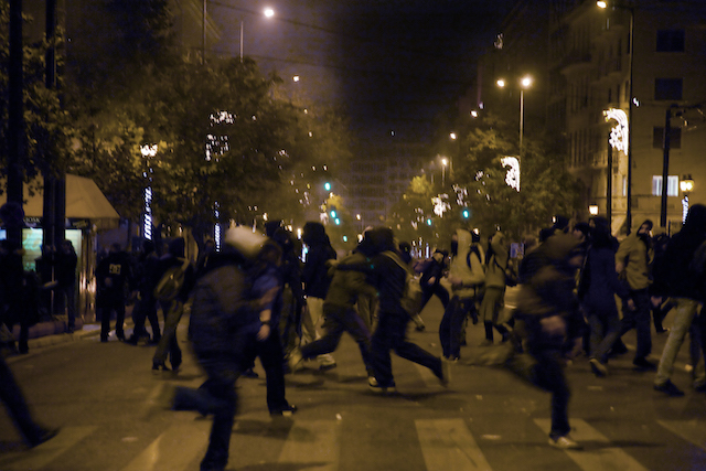 Eirini Vourloumis, December Riots (detail), 2008. AR January & February 2020 Review State of concept