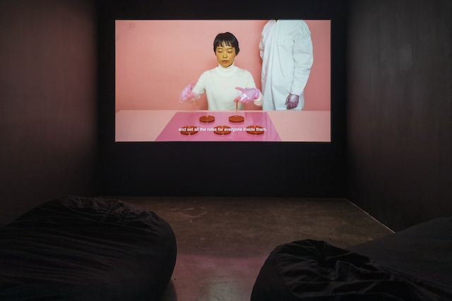 Jen Liu, Pink Slime Caesar Shift, 2018. AR March 2020 Review Sick Time, Sleepy Time, Crip Time