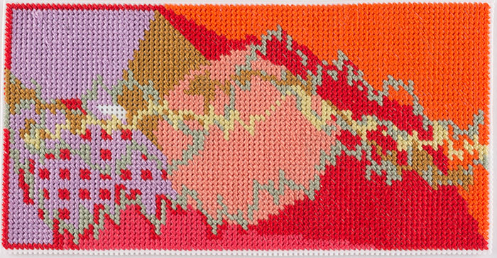 Steve Reinke, Untitled (needlepoint), 2017. AR March 2020 Previews