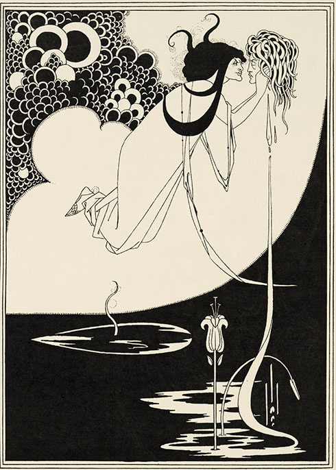 Aubrey Beardsley, The Climax, illustration for Oscar Wilde's Salome, 1893. AR March 2020 Previews