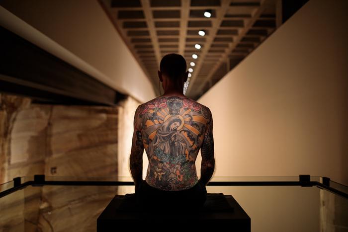 Tattoo Tim, tattooed by Wim Delvoye