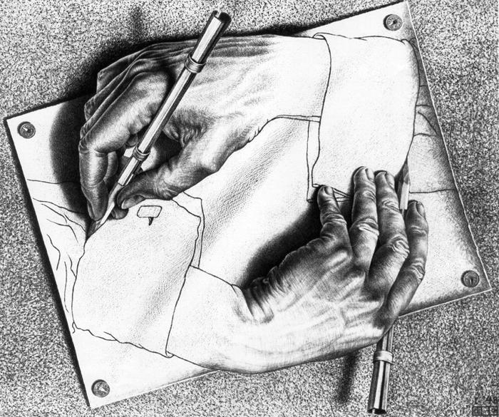 M.C. Escher, Drawing Hand