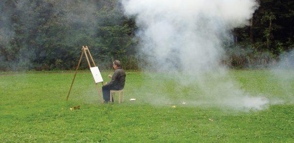 Punkt (production still), 2006, video, 1 min 40 sec. Photo: Aleksandra Signer