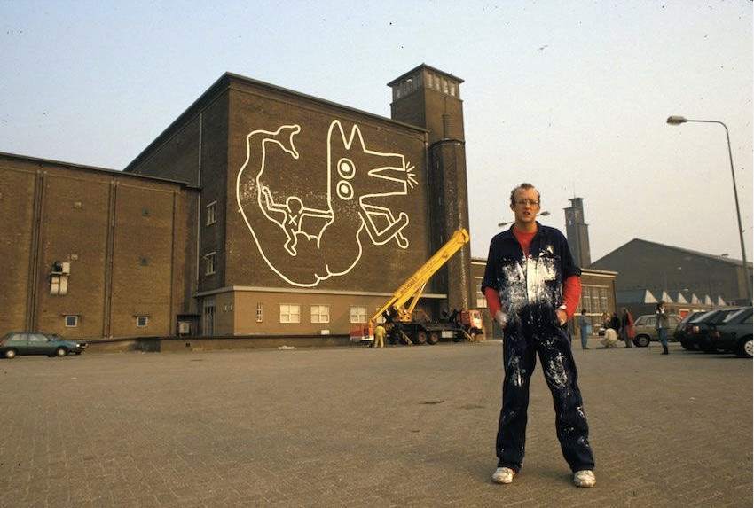 In pictures: 'forgotten' Keith Haring mural to be restored